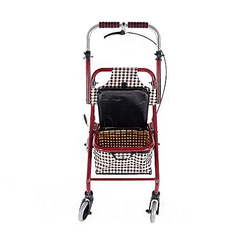 LOO LA Andador Plegable Andador Ancianos sin Ruedas para ...