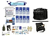 4 Person Supply 1 Day Emergency Bug Out S.O.S. Food Rations, Purified Drinking Water, LifeStraw Personal Filter + Ultimate Arms Gear Duty Gear Bag + Survival First Aid Kit & Multi Tool Set