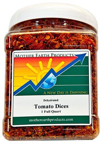 Dried Tomatoes Recipe - Mother Earth Products Dried Tomato Dices, Quart Jar, 9 Ounce