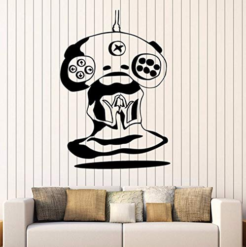 Pbldb 42X60Cm Gamer Meditation Alien Joystick Video Game Wall Decal Stickers Play Gaming Room Door Decoration Fashion Art Sticker -