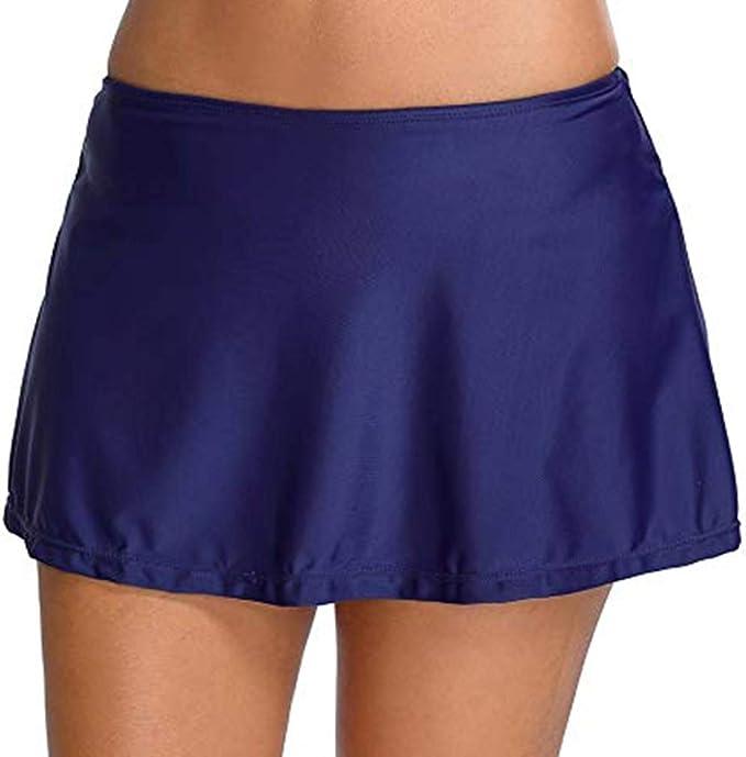 Leslady Mujer Shorts de Baño Falda de Bikini con Falda Corta ...