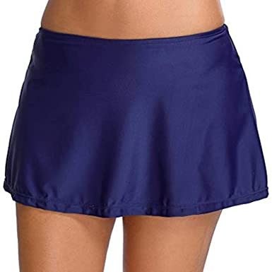 bd6c7205acf01b Leslady Damen Badeshorts Damen Bikini Rock Strand Rock mit Integrierter  Hose Hohe Taille Mini Bikinihosen Bottom mit Short: Amazon.de: Bekleidung