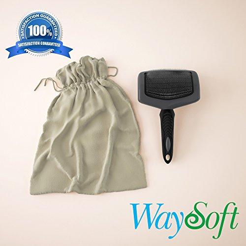 (WaySoft(TM Premium Professional Sheepskin Rug Brush)