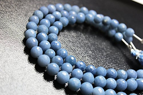 AAA quality peruvian blue opal faceted round loose gemstone beads 8