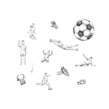 Runinstickers Pegatinas De Pared Balón De Fútbol Pegatinas De ...