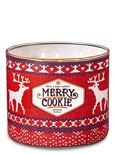 (White Barn Bath & Body Works 3 Wick Candle Merry Cookie)