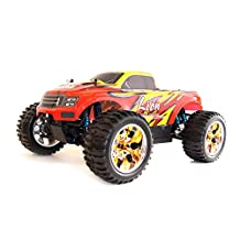 ALEKO® 1001PRO 4WD Brushless Electric Powered High Speed Off-Road RC PRO Monster Truck, Red 1/10 Scale