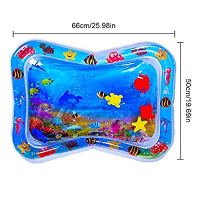 Niguleser Tummy Time Water Play Mat, Baby Sensory Toys, Fun Time Play Activity Center for 3 6 9 Months Newborn Boy Girl (66 50Cm): Sports & Outdoors