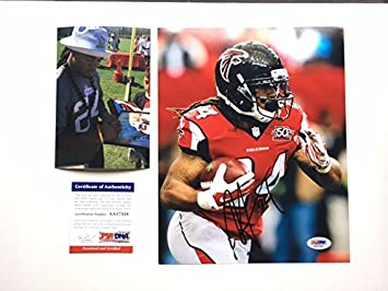 size 40 616de 34df4 Amazon.com: Devonta Freeman Hot! signed Atlanta Falcons 8x10 ...
