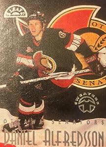 1996-97 Leaf Sweaters Away 14 of 15 Daniel Alfredsson Ottawa Senators Hockey Card # 2800/5000