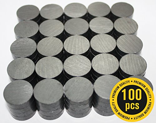 X-bet MAGNET ™ - Ceramic Industrial Magnets - 18 mm (.709 inch) Round Disc - Ferrite Magnets Bulk for Crafts, Science & hobbies - 100pcs / box! (Scientific Glass Block)