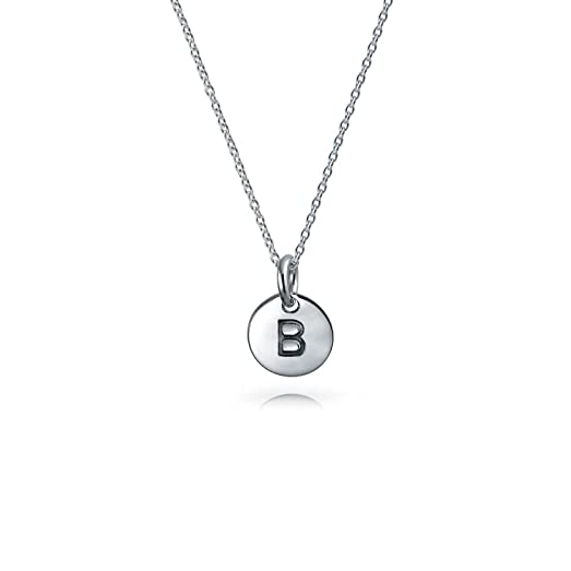 Amazon bling jewelry petite letter b initial disc pendant bling jewelry petite letter b initial disc pendant sterling silver necklace 18 inches mozeypictures Choice Image