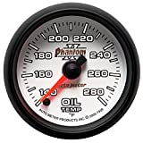 Auto Meter 7556 Phantom II 2-1/16'' 140-280 F Full Sweep Electric Oil Temperature Gauge