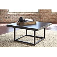Starmore Brown Color Contemporary Square Cocktail Table