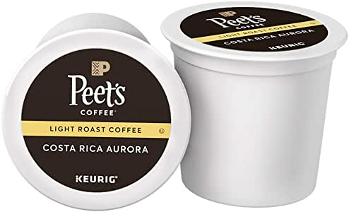 Peet's Coffee Costa Rica Aurora Light Roast Coffee K-Cup Coffee Pods (10 Count)