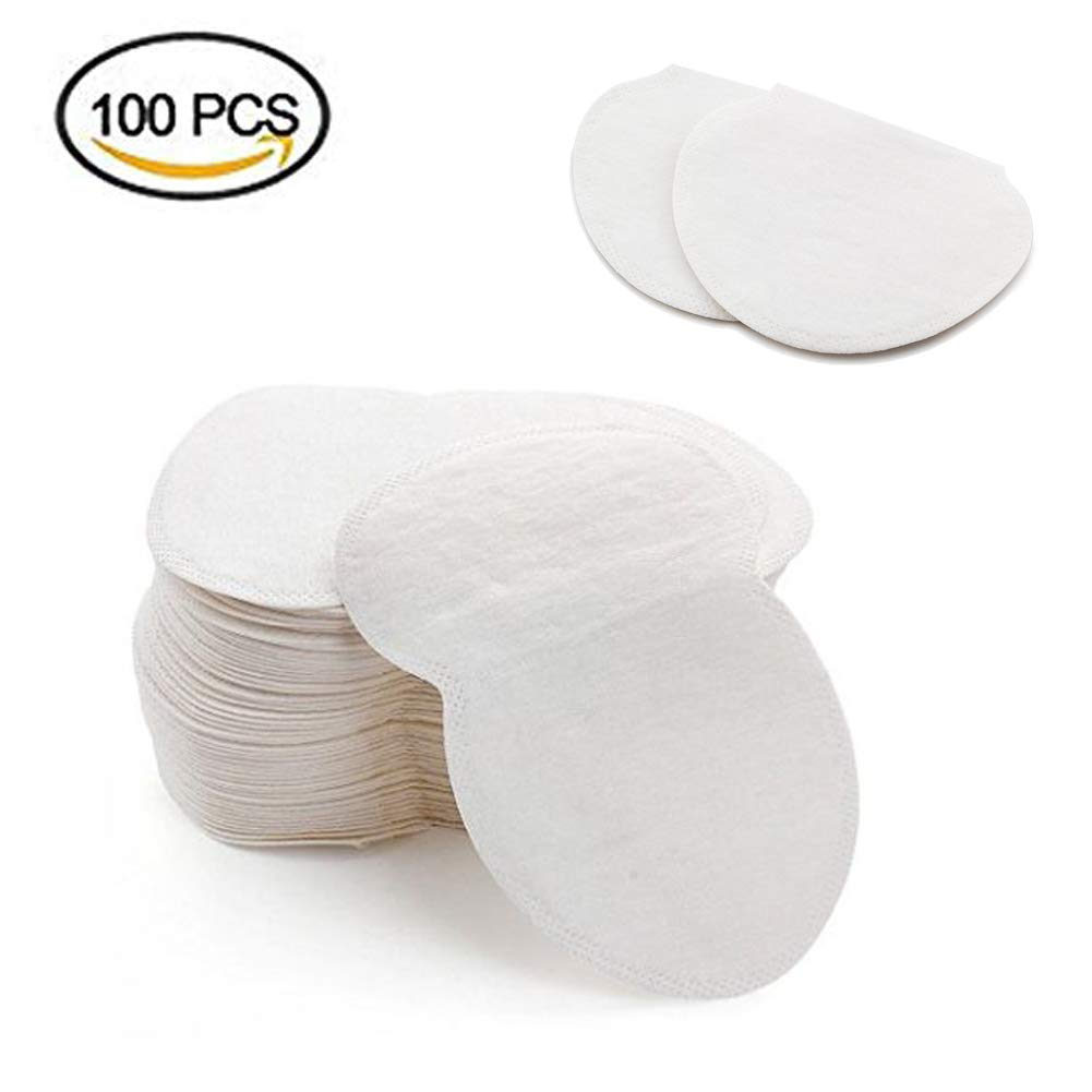 Sexybeauty.u Underarm Sweat Pads Disposable Armpit Pads 100Pcs Comfty Dress Shields Adhesive Garment Guards Sweat Free & Odor Free
