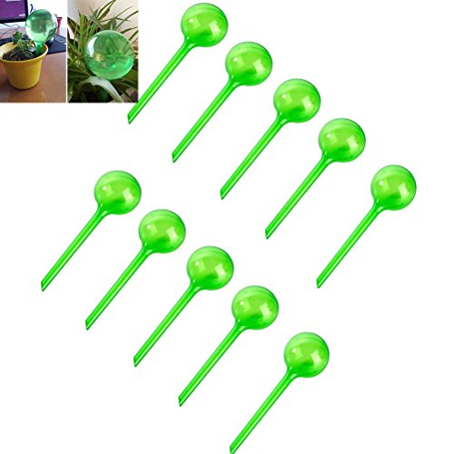 CoscosX 10 Pcs Large Automatic Watering Device Globes Vacation Houseplant Plant Pot Bulbs Garden Waterer Flower Water Drip Irrigationdevice Self Watering System by CoscosX