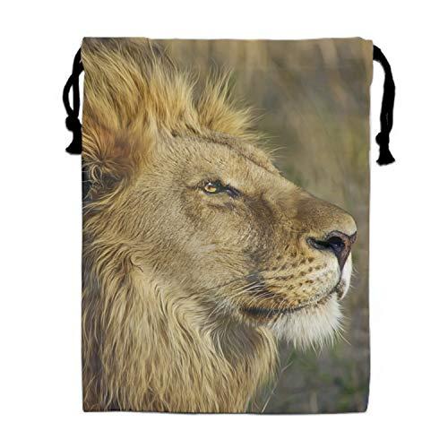Animal Lion Drawstring Bag Waterproof Backpack Shopping Sack Bags Unisex