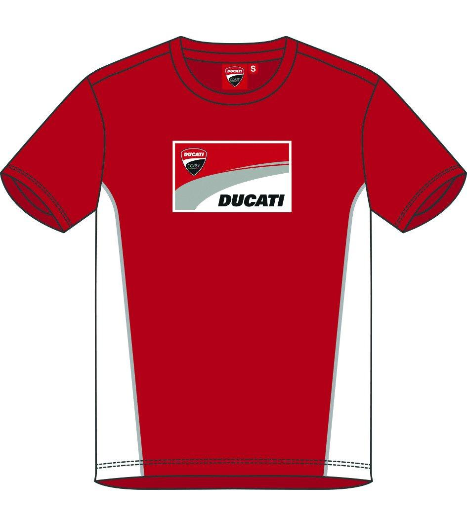 Ducati Corse Moto GP Racing Camiseta Logo Rojo Oficial 2018
