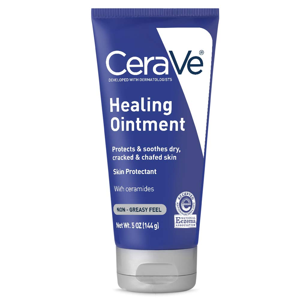 CeraVe Healing Ointment | 5 Ounce | Cracked Skin Repair Skin Protectant with Petrolatum Ceramides | Fragrance Free