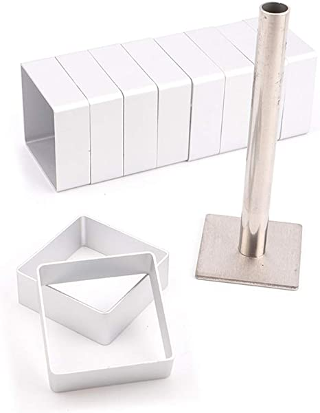 10pcs Set Stainless Steel Rectangle Cutter Molds Bread Biscuit Cake Moulder Tool