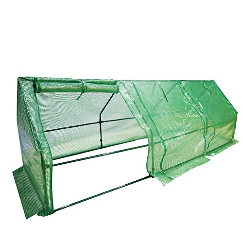 Abba Patio Large Walk-in Greenhouse Fully Enclosed Portable Greenhouse, 9'W x 3'D x 3'H