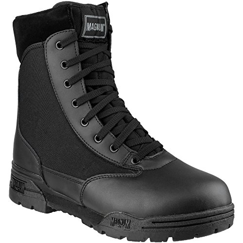 Magnum Mens Magnum Classic CEN Lace Up Leather Patrol Boot Black Black