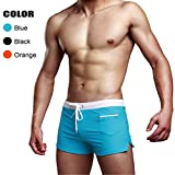 #8: Swimsuit Men Swim Briefs Trunk Shorts Swimwear Square Leg Cut Boardshort w Pocket