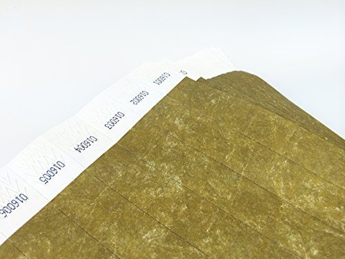 500 Metallic Gold Tyvek Wristbands product image