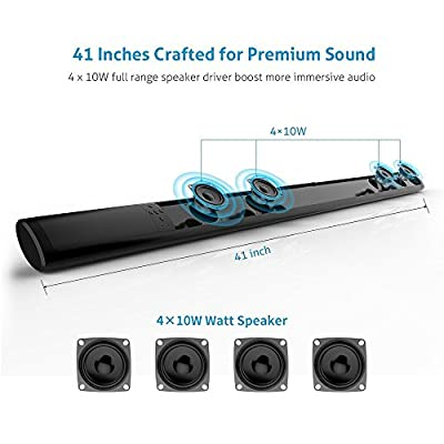 SoundBar Speaker Buletooth Wireless with Remote Control Multifunctional SoundBar for iPhone/iPad/Tablet PC/Smartphone/MP3 Player