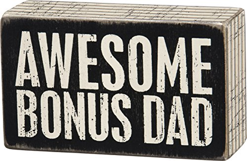 """Primitives By Kathy 5"""" X 3"""" Wooden Box Sign: """"Awesome Bonus"""