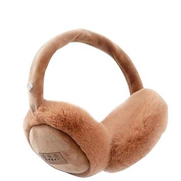 Mantenga las orejeras calientes Cable USB de datos recargable Invierno Auriculares Bluetooth Auriculares inalámbricos Música Manos libres Llamadas Mantenga ...