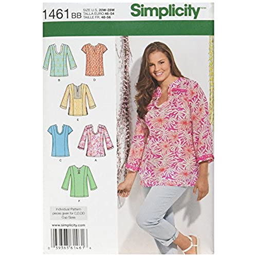 Sewing Patterns Plus Size Womens Tops Amazon