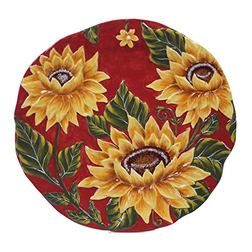 (Certified International Sunset Sunflower Round Platter, 13