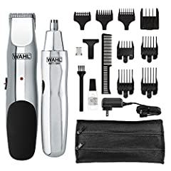 """The Wahl groomsman is a rechargeable beard, mustache, hair, & nose hair trimmer. Groomsman features 14 different cutting lengths that allow you to achieve a wide range of beard styles from 1/16"""" to ½"""". Groomsman supports worldwide voltage..."""