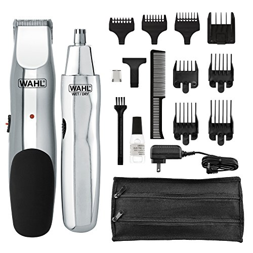 (Wahl Groomsman Rechargeable Beard, Mustache, Nose Hair Trimmer For Detailing & Grooming - By The Brand Used By Professionals - Model 5622)