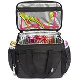 Large Cooler Bag,VASCHY 30-Can 23L Insulated Leakproof Picnic Lunch Bag Hard Liner Multi-Pockets Camping, Beach, Travel, Fishing Detachable Shoulder Strap,Beer Opener