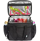 Large Cooler Bag,VASCHY 30-Can 23L Insulated Leakproof Picnic Lunch Bag with Multi-pockets for Camping, Beach, Travel, Fishing with Detachable Shoulder Strap,Beer Opener
