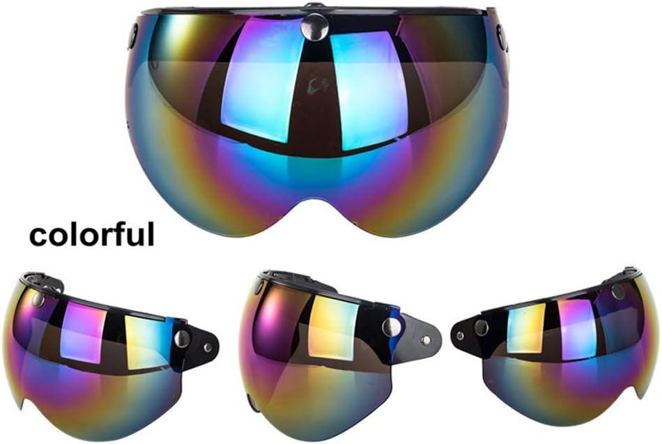 Creacom Universal 3-Snap Visor for Open Face Motorcycle Helmet Wind Shield Flip Up Down