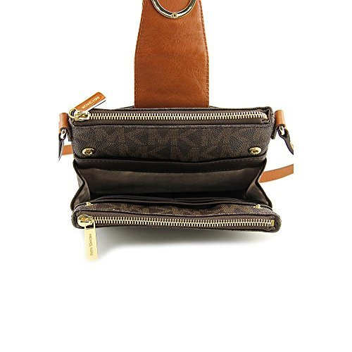 Michael Kors Fulton Brown small Crossbody Bag 32F3GFTC3B (Brown)