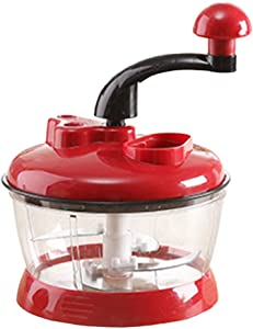 YU-NIYUT Manual Portable Blender Spiral Vegetable Slicer Meat Grinder Food Processor Multifunctional Kitchen Round Chopper Mixer Household Cooking Supplies Practical, Durable and Easy To Use