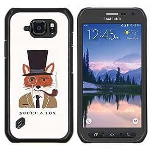 Stuss Case / Funda Carcasa protectora - Un caballero Dibujo Fox Clever - Samsung Galaxy S6Active Active G890A