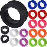 1 26mm gauges ear plugs thin silicone flesh tunnels double flare spiral expander stretcher taper MoDTanOiz