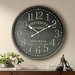 River Parks Studio Grand Hotel 31 1/2 Wide Antiquite De Paris Wall Clock