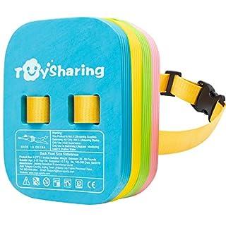 Toysharing Back Float Safety Swim Bubble Belt with Adjustable Split Layers Swim Belts Secure Clip Buckle Progressive Swim Floaties for Swim Trainer Water Lesson Kids Toddler Children Swim Training