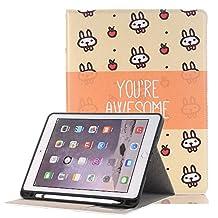 Businda Folio Case with PU Leather Auto Wake/Sleep Flip Folio Stand Smart Cover for Apple iPad Pro 12.9 inch,Small Rabbit