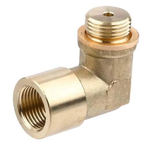 Ecosin Perfect Angle 90° O2 Oxygen Sensor Extender Spacer for Decat Hydrogen Brass (Spacer Engine)