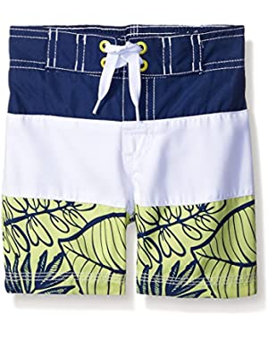 Boys' Baby Blue Whale Swim Trunk