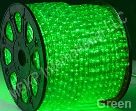 グリーン12 VボルトDC LEDロープライト自動照明25メートル82フィート B004CNTPSO