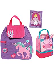 Stephen Joseph Girls Quilted Unicorn Backpack and Lunch Pal with Activity Pad